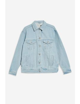 Bleach Denim Oversized Jacket by Topshop