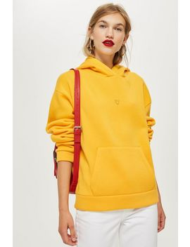 Yellow Heart Hoodie by Topshop
