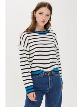 All Over Striped Jumper by Topshop