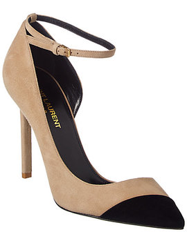 Saint Laurent Anja Suede Pump by Saint Laurent