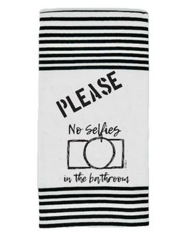 No Selfies Towel by The Mole Hole Of Somerset, Kentucky