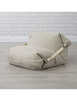 Adjustable Grey Bean Bag Chair by Crate&Barrel