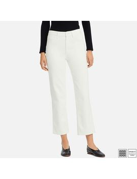 Women Uniqlo U High Rise Straight Ankle Jeans by Uniqlo
