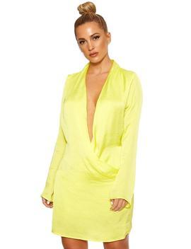 Take The Plunge Satin Mini Dress by Naked Wardrobe