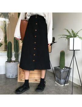 Monroll   Buttoned Midi Skirt by Monroll