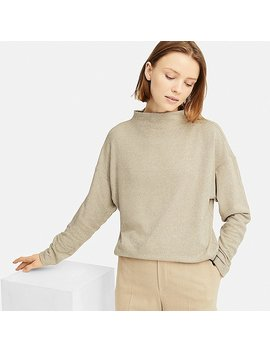 Damen Fleece Langarmshirt Hoher Kragen by Uniqlo