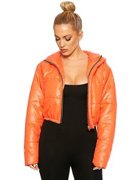 Come To My Hood Cropped Puffer Jacket by Naked Wardrobe