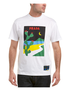 Prada Printed Cotton Jersey T Shirt by Prada