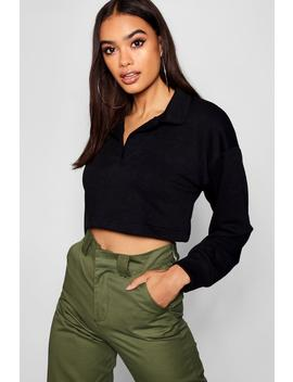 Cropped Rugby Shirt by Boohoo