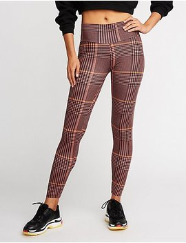 Plaid Leggings by Charlotte Russe