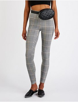Houndstooth Leggings by Charlotte Russe