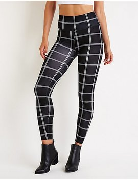 Windowpane Leggings by Charlotte Russe