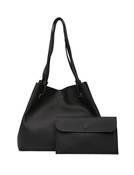Pu Tote Bag With Clutch by Romwe