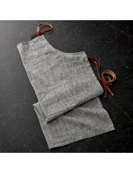 Chambray Grey Apron by Crate&Barrel