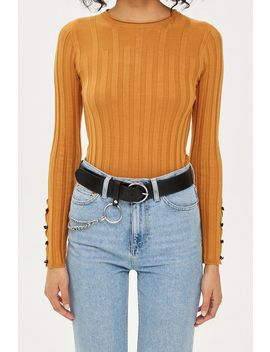 Circle Buckle Chain Belt by Topshop