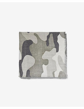 Heathered Camo Oversized Scarf by Express