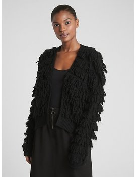 Loop Fringe Cardigan Sweater by Gap