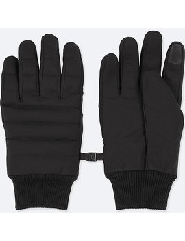 Men Heattech Lined Quilted Gloves by Uniqlo