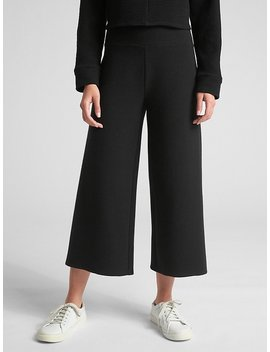 Ottoman Ribbed Crop Wide Leg Pants by Gap