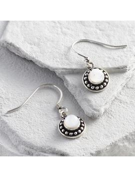Silver Moonstone   Drop Earrings by World Market