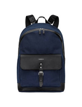 Sandqvist Andor Grand Canvas Backpack, Blue by Sandqvist