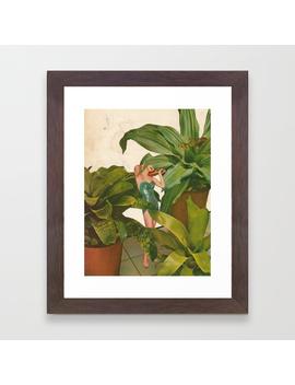 Foliage Framed Art Print by