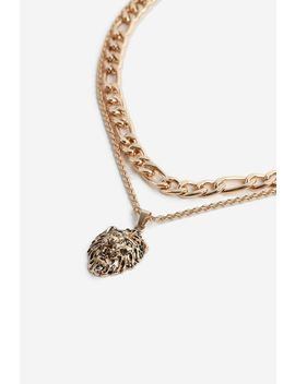 **Lion Pendant Necklace by Topshop