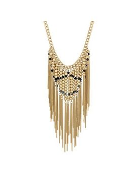 Mood   Beaded Chain Drop Necklace by Mood
