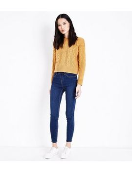 Blue Rinse Wash Emilee Jeggings by New Look