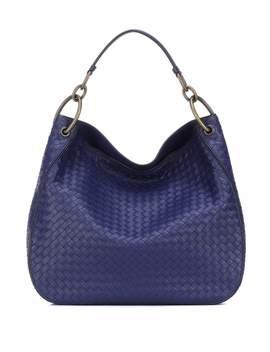 Loop Intrecciato Leather Shoulder Bag by Bottega Veneta