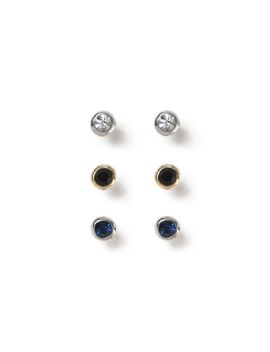 Crystal Earring Pack* by Topman