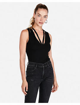Deep V Strappy Tank by Express