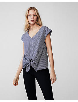 Striped Knot Front Top by Express