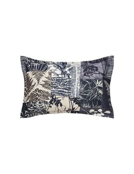 Clarissa Hulse   Dark Blue Cotton Sateen 200 Thread Count 'indigo Patchwork' Oxford Pillow Case by Clarissa Hulse