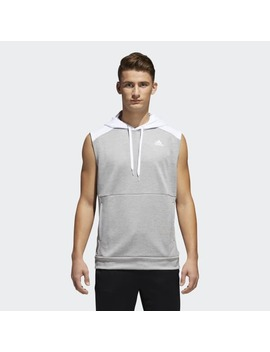 Team Issue Lite Sleeveless Hoodie by Adidas