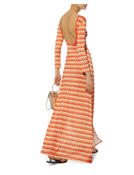 Evissa Chevron Maxi Dress by C'est La V