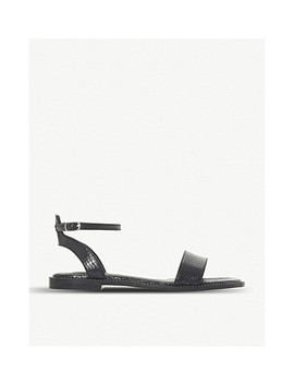 Nance Reptile Effect Leather Sandals by Dune