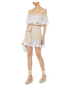 Emy Embroidered Skirt by Miguelina
