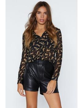 Hunt Them Out Leopard Shirt by Nasty Gal