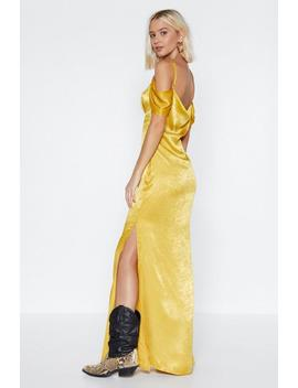 Slink Ahead Satin Dress by Nasty Gal