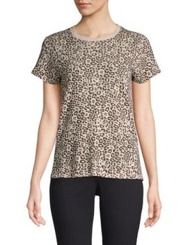 Leopard Slub Cotton Tee by Atm Anthony Thomas Melillo