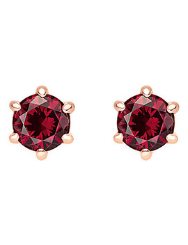 Glam And Soul Red Stone Sterling Silver And 18k Rose Gold Plated Earrings by Thomas Sabo