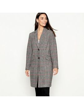 The Collection   Multicoloured Checked Smart City Coat by The Collection