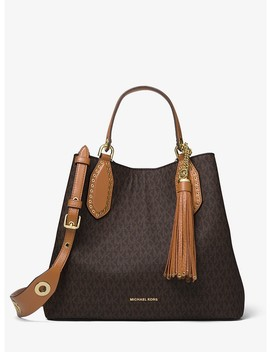 Brooklyn Large Logo Satchel by Michael Michael Kors