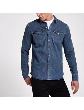 Levi's Blue Denim Western Shirt by River Island