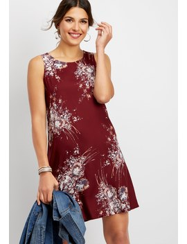 Watercolor Floral Tank Dress by Maurices