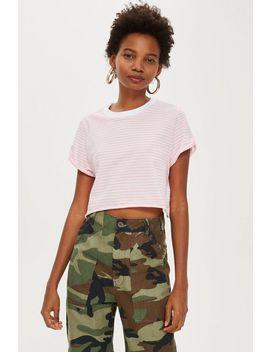 petite-stripe-boxy-t-shirt by topshop