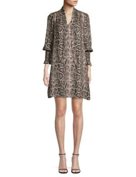 Snake Print Dress by Rebecca Taylor