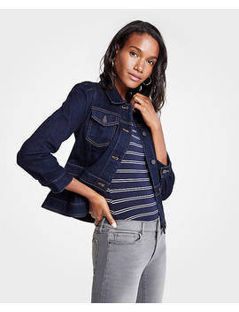 Peplum Denim Jacket by Ann Taylor