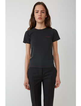 Baby Fit T Shirt Black by Acne Studios